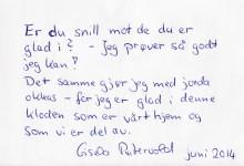 Gisela Puntervold  (die Karte ist auch in Deutsch geschrieben)